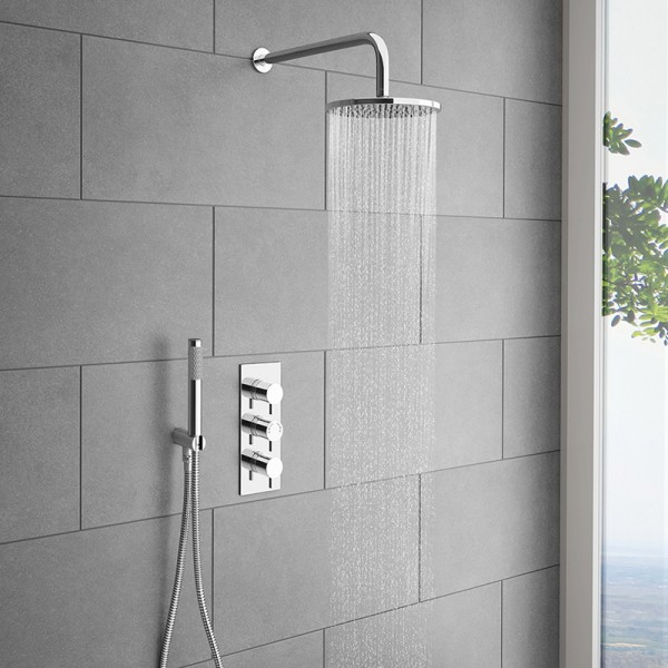 Plumbing for modern shower