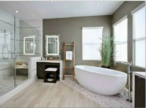 Plumbing for contemporary bathroom